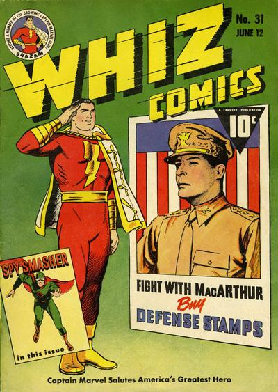 Cover for Whiz Comics (Fawcett, 1940 series) #31