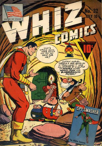 Cover for Whiz Comics (Fawcett, 1940 series) #32