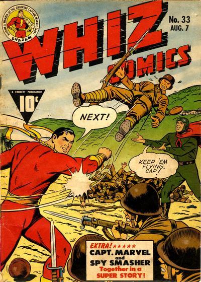 Cover for Whiz Comics (Fawcett, 1940 series) #33