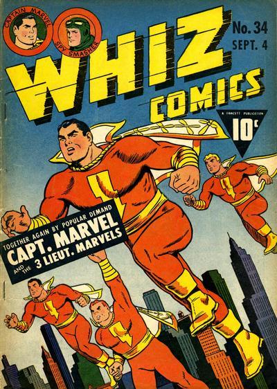 Cover for Whiz Comics (Fawcett, 1940 series) #34