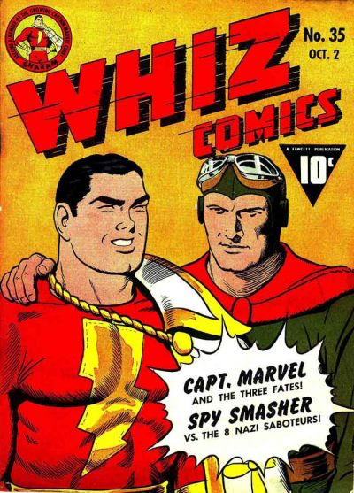 Cover for Whiz Comics (Fawcett, 1940 series) #35