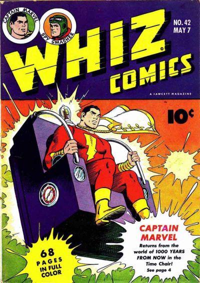 Cover for Whiz Comics (Fawcett, 1940 series) #42