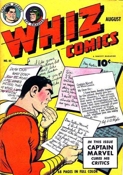 Cover for Whiz Comics (Fawcett, 1940 series) #45