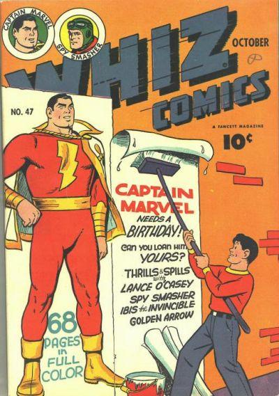 Cover for Whiz Comics (Fawcett, 1940 series) #47