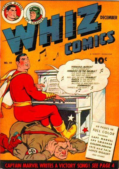 Cover for Whiz Comics (Fawcett, 1940 series) #49