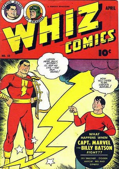 Cover for Whiz Comics (Fawcett, 1940 series) #53