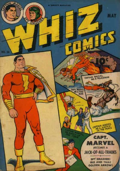 Cover for Whiz Comics (Fawcett, 1940 series) #54