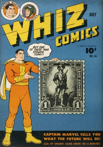 Cover for Whiz Comics (Fawcett, 1940 series) #56