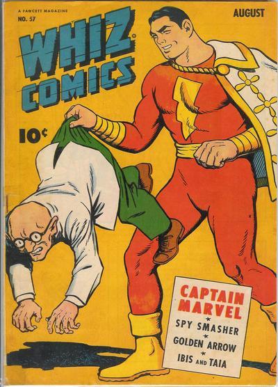 Cover for Whiz Comics (Fawcett, 1940 series) #57