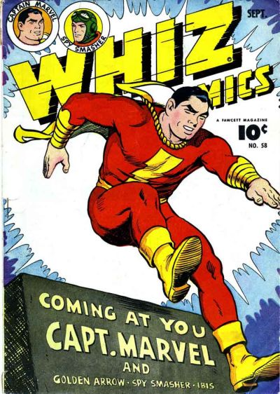 Cover for Whiz Comics (Fawcett, 1940 series) #58