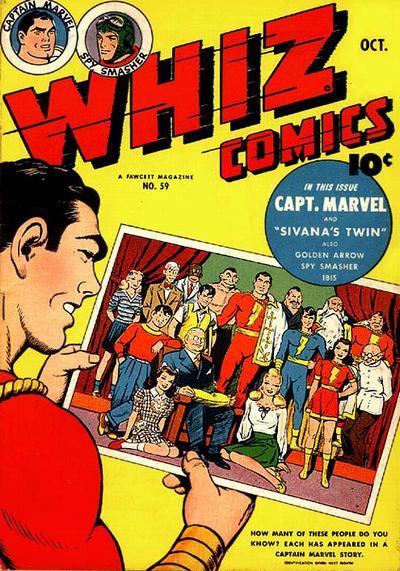Cover for Whiz Comics (Fawcett, 1940 series) #59