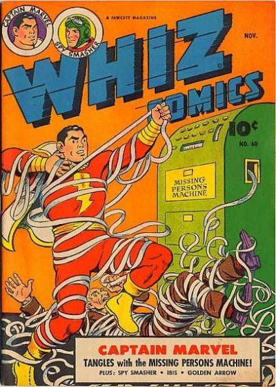 Cover for Whiz Comics (Fawcett, 1940 series) #60