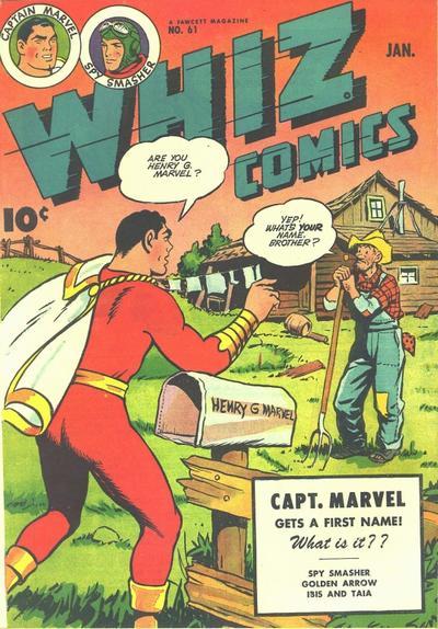 Cover for Whiz Comics (Fawcett, 1940 series) #61