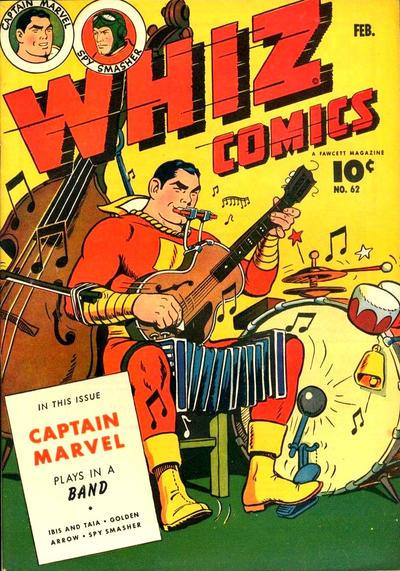 Cover for Whiz Comics (Fawcett, 1940 series) #62