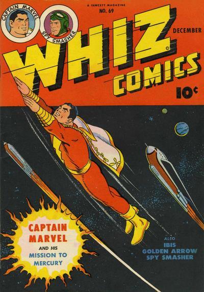 Cover for Whiz Comics (Fawcett, 1940 series) #69