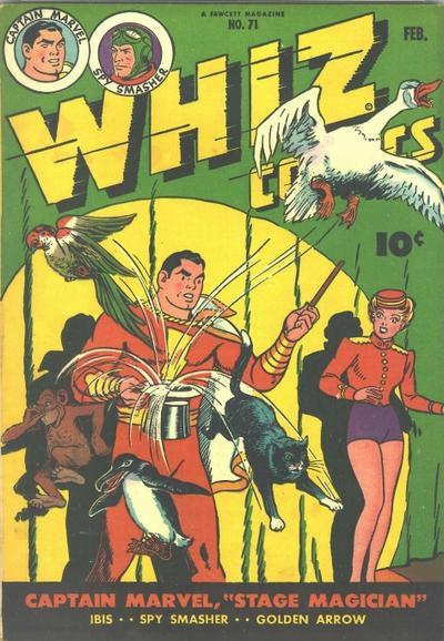 Cover for Whiz Comics (Fawcett, 1940 series) #71