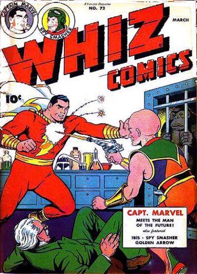 Cover for Whiz Comics (Fawcett, 1940 series) #72