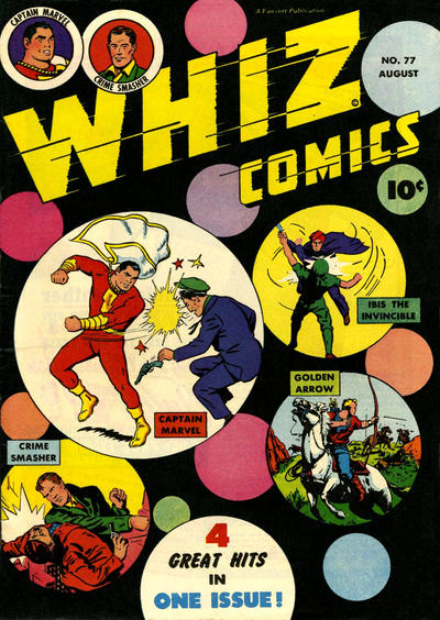 Cover for Whiz Comics (Fawcett, 1940 series) #77