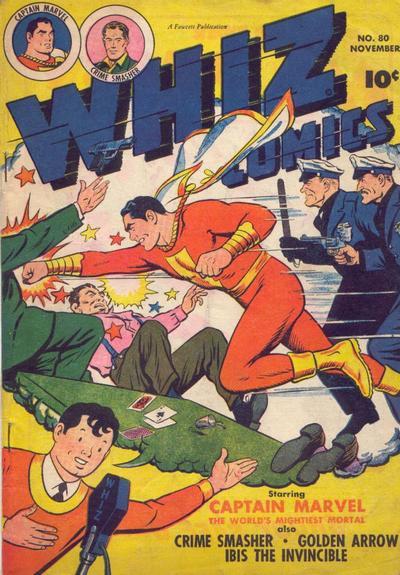 Cover for Whiz Comics (Fawcett, 1940 series) #80
