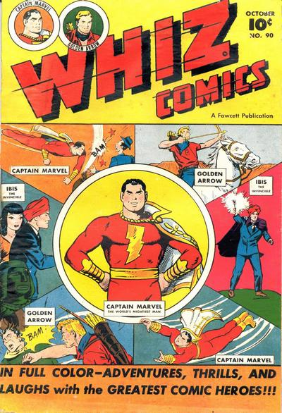 Cover for Whiz Comics (Fawcett, 1940 series) #90