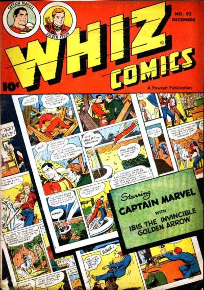 Cover for Whiz Comics (Fawcett, 1940 series) #92