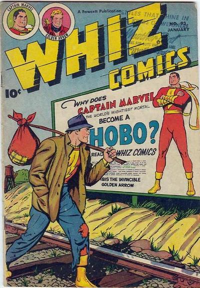 Cover for Whiz Comics (Fawcett, 1940 series) #93
