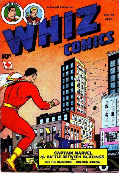 Cover for Whiz Comics (Fawcett, 1940 series) #96