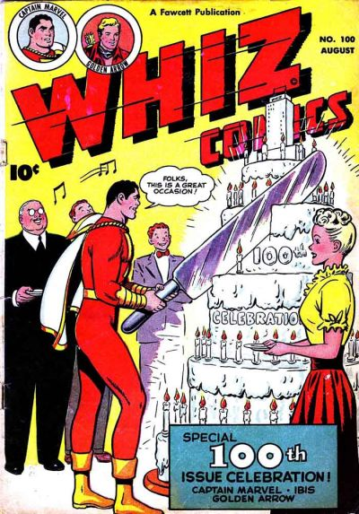 Cover for Whiz Comics (Fawcett, 1940 series) #100