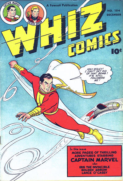 Cover for Whiz Comics (Fawcett, 1940 series) #104