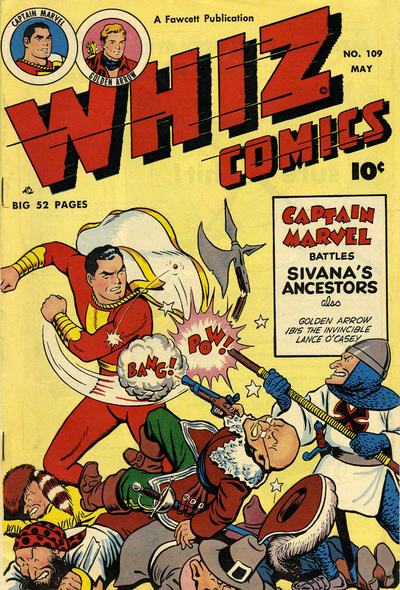 Cover for Whiz Comics (Fawcett, 1940 series) #109