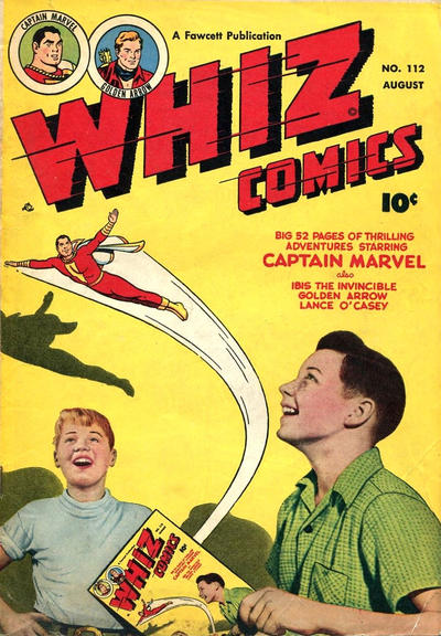 Cover for Whiz Comics (Fawcett, 1940 series) #112