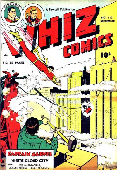 Cover for Whiz Comics (Fawcett, 1940 series) #113