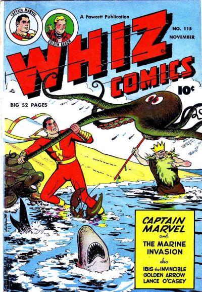Cover for Whiz Comics (Fawcett, 1940 series) #115