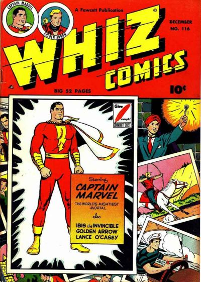 Cover for Whiz Comics (Fawcett, 1940 series) #116