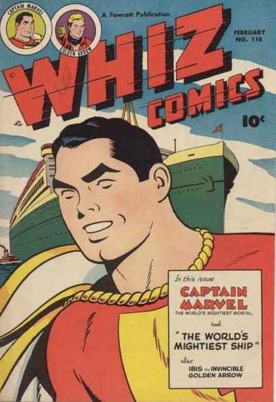 Cover for Whiz Comics (Fawcett, 1940 series) #118