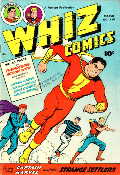 Cover for Whiz Comics (Fawcett, 1940 series) #119