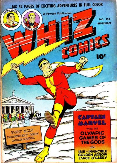 Cover for Whiz Comics (Fawcett, 1940 series) #125