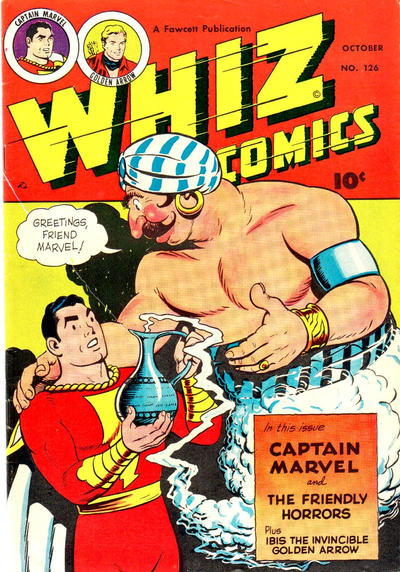 Cover for Whiz Comics (Fawcett, 1940 series) #126