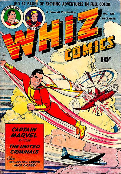 Cover for Whiz Comics (Fawcett, 1940 series) #128