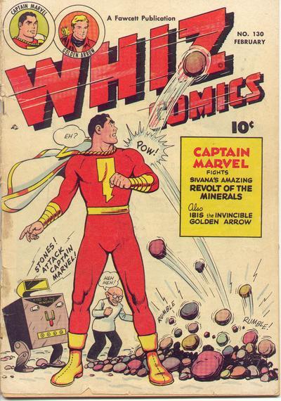 Cover for Whiz Comics (Fawcett, 1940 series) #130