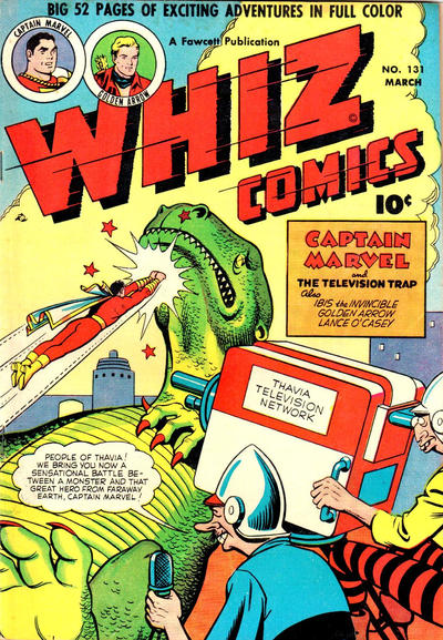 Cover for Whiz Comics (Fawcett, 1940 series) #131
