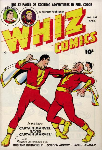 Cover for Whiz Comics (Fawcett, 1940 series) #132