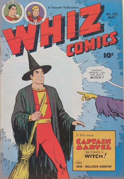 Cover for Whiz Comics (Fawcett, 1940 series) #133