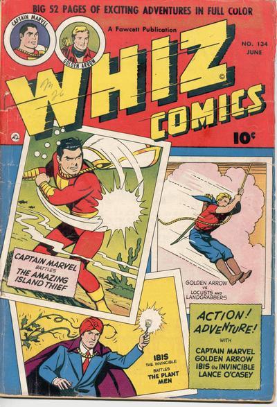 Cover for Whiz Comics (Fawcett, 1940 series) #134