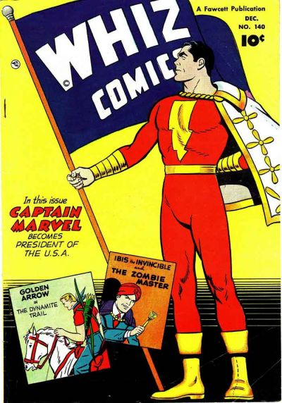 Cover for Whiz Comics (Fawcett, 1940 series) #140