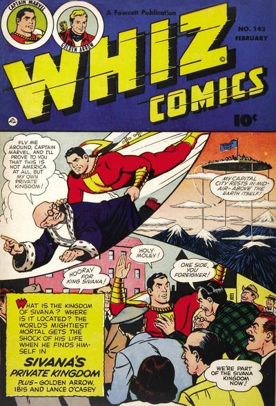 Cover for Whiz Comics (Fawcett, 1940 series) #142