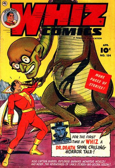 Cover for Whiz Comics (Fawcett, 1940 series) #154