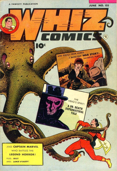 Cover for Whiz Comics (Fawcett, 1940 series) #155
