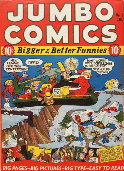 Cover for Jumbo Comics (Fiction House, 1938 series) #5