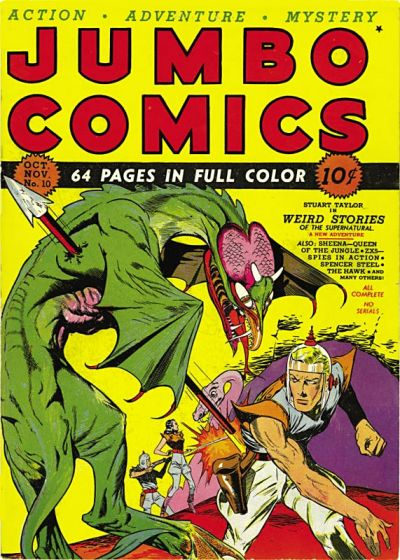 Cover for Jumbo Comics (Fiction House, 1938 series) #10